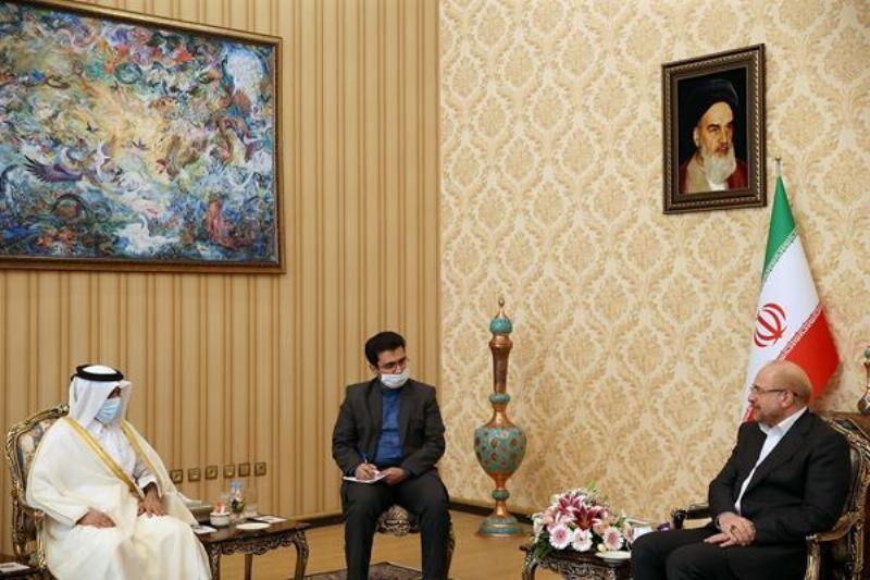 قالیباف خواستار افزایش سطوح همکاریهای ایران و قطر شد