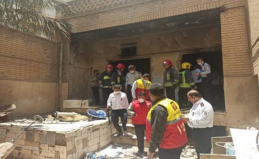 انفجار گاز در اهواز حادثه آفرید