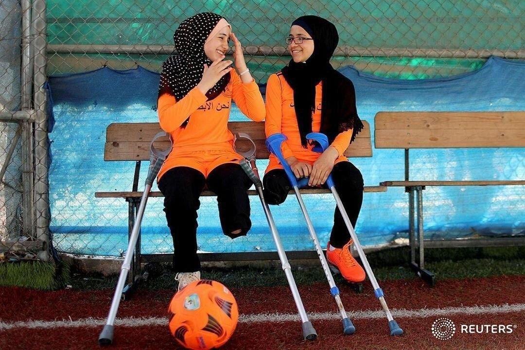 دختران فلسطینی بار دیگر پا به توپ شدند