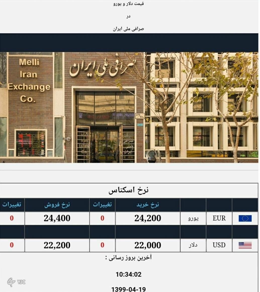 نرخ ارز آزاد در ۱۹ تیر؛ دلار به قیمت ۲۲ هزار و ۲۰۰ تومان رسید