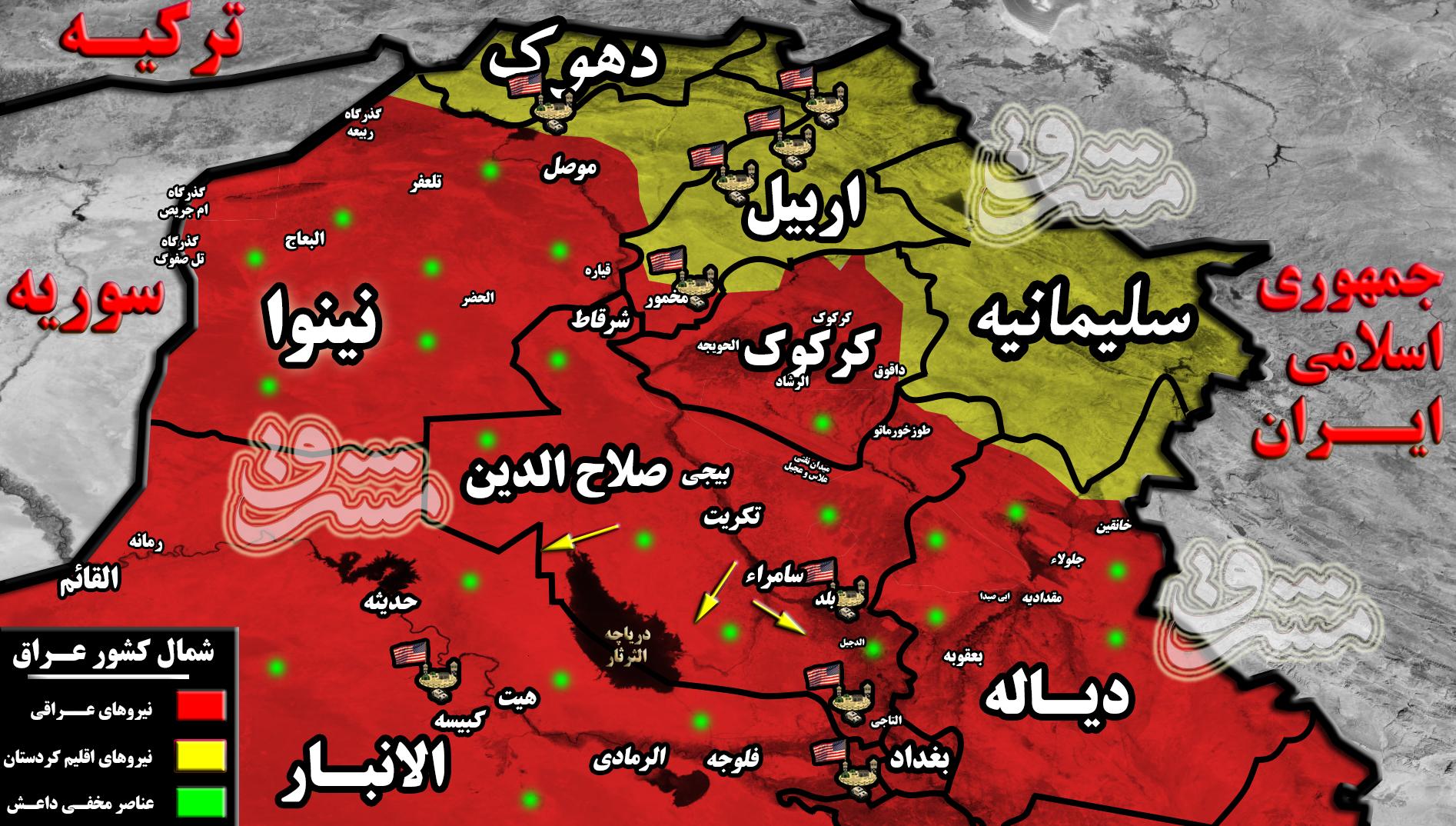 در حومه شهر «سامراء» چه میگذرد؟ / جزئیات عملیات پیشدستانه علیه داعش + نقشه میدانی و عکس