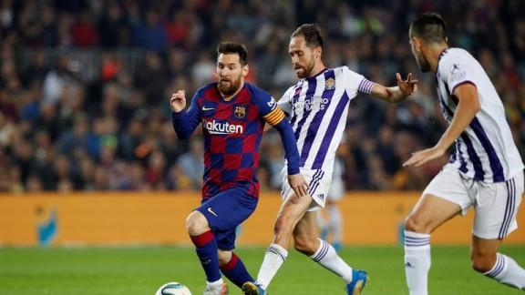 //بازی فوتبال بارسلونا – وایادولید/ کورسوی امید «بلوگرانا» برای کسب عنوان قهرمانی