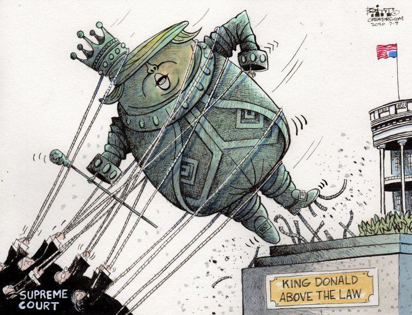 کاریکاتور/ پادشاه ترامپ فراتر از قانون