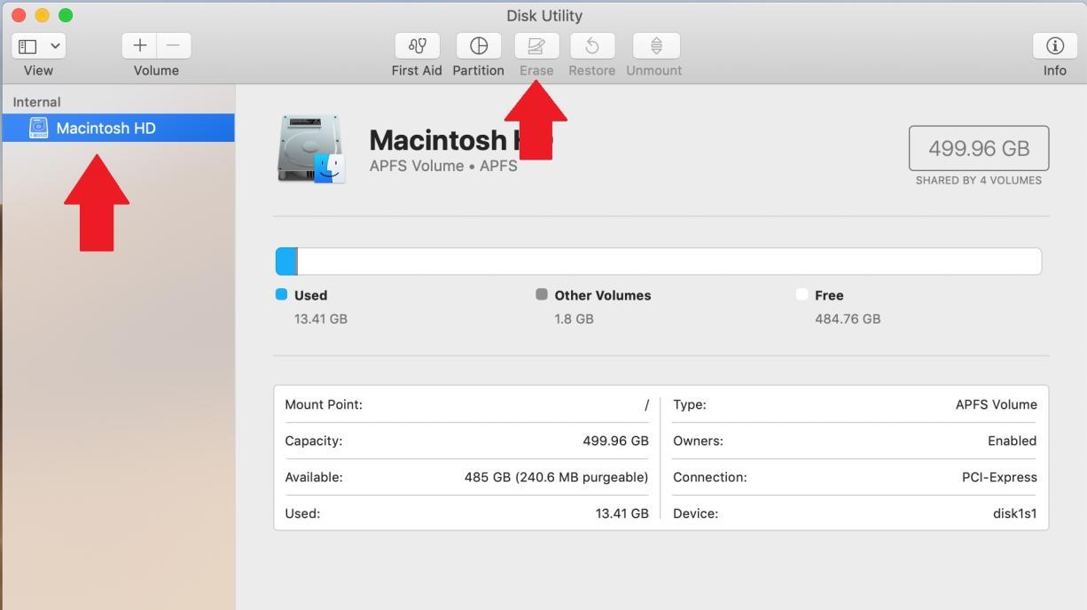 تنظیمات کارخانه iMac