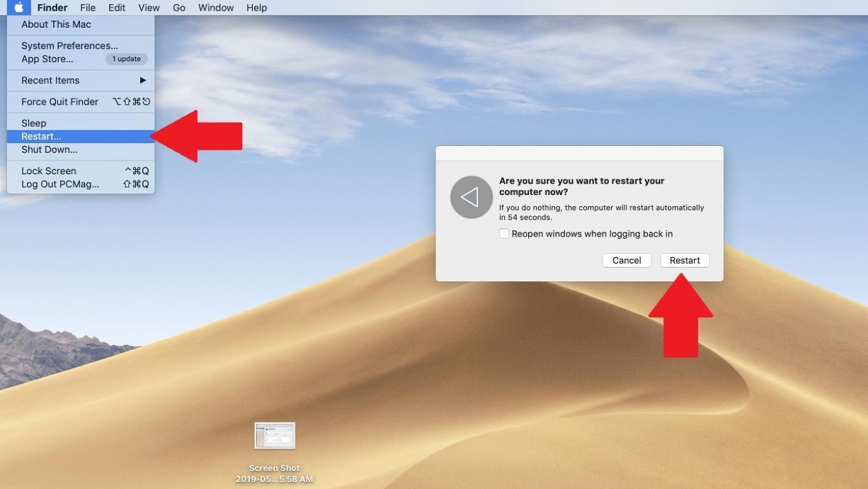 تنظیمات کارخانه macOS
