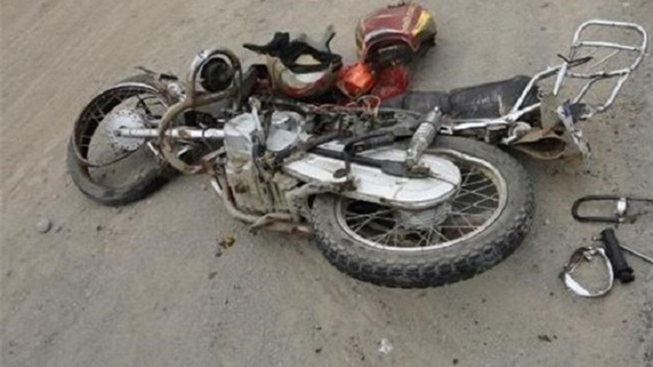 مرگ موتور سوار در برخورد با یک قلاده سگ