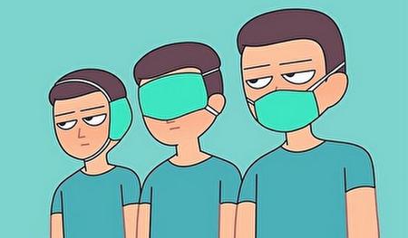ویدئویی طنز درباره انواع روشهای ماسک زدن