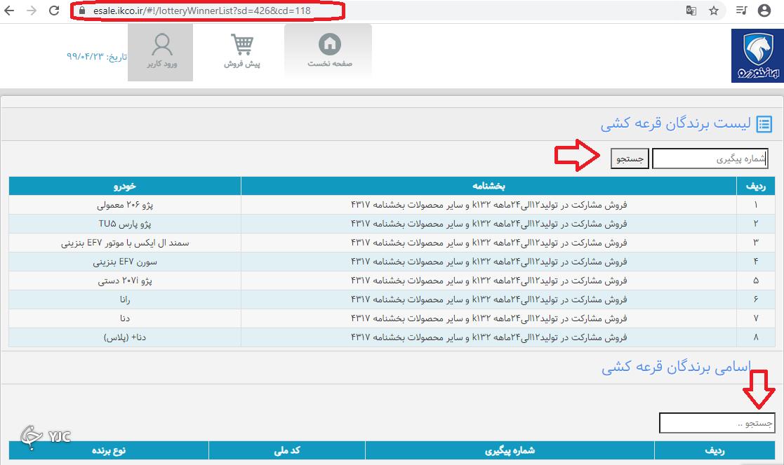 نتایج قرعه کشی k132 و سایر محصولات ایران خودرو اعلام شد