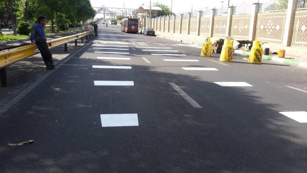 احداث سرعتکاه آسفالتی در مسیر جنوب به شمال خیابان دشت آزادگان