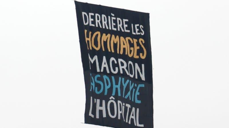 تظاهرات کادر درمان در روز ملی فرانسه در اعتراض به ادای احترام مکرون+ فیلم و تصاویر