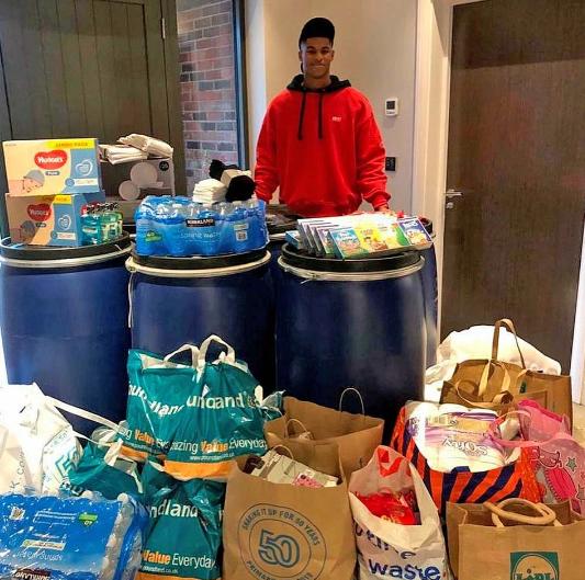 تهیه ۴ میلیون غذا برای بی خانمانها توسط ستاره منچستر یونایتد