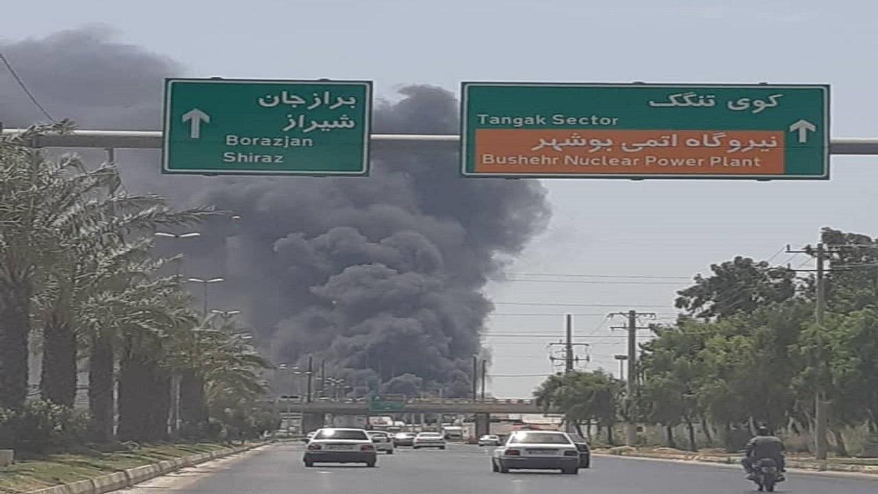 ۵ فروند لنج در آتش سوزی کارگاه شناورسازی بوشهر آسیب دیدند