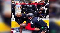 باشگاه خبرنگاران - شکستن ویلچر یک سیاه پوست معلول در حمله ماموران پلیس لس آنجلس به معترضان + فیلم