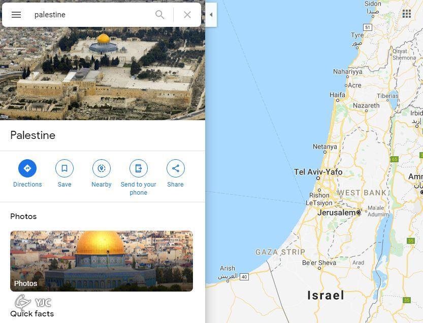 حذف فلسطین از روی نقشههای اپل و گوگل