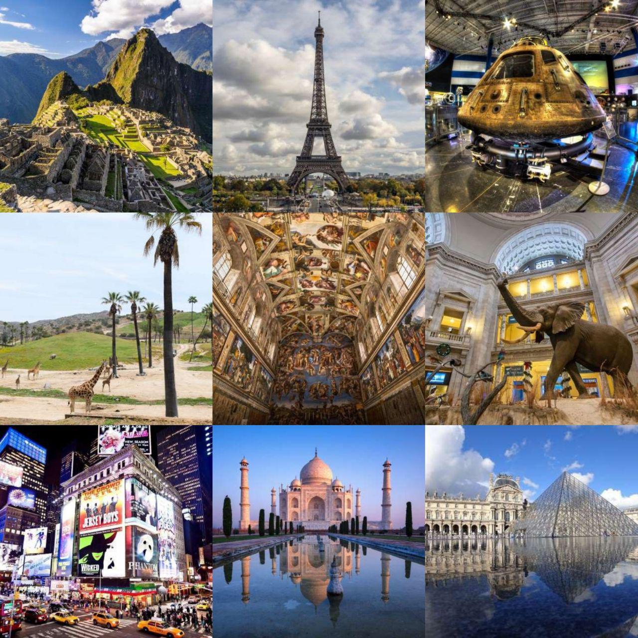 ۱۹ نقطهی دیدنی جهان برای سفر مجازی