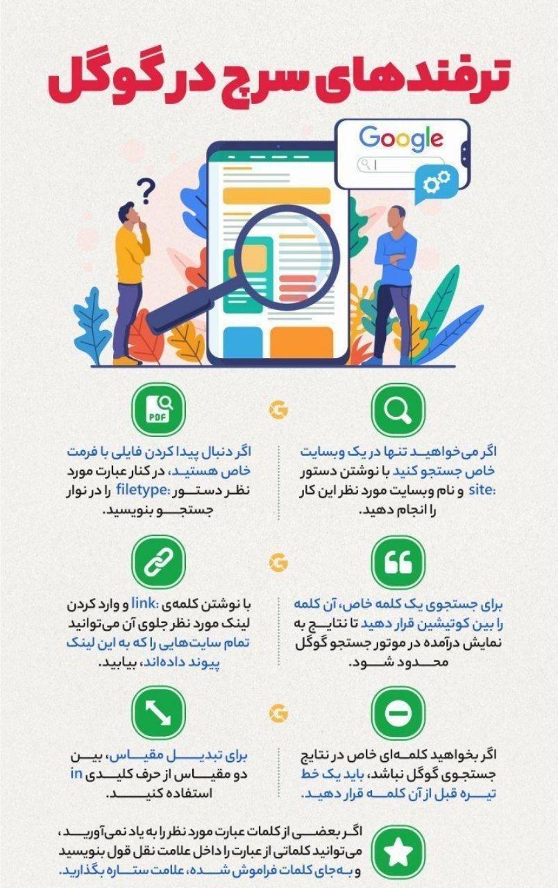 آشنایی با ترفندهای سرچ در گوگل