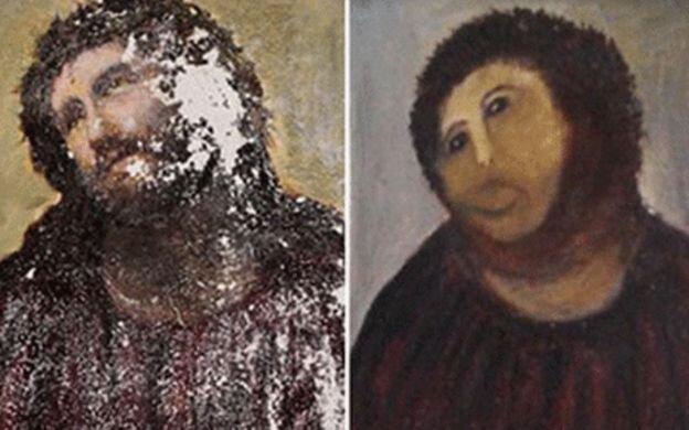 افتضاحی که حین بازسازی نقاشی مشهور به بار آمد! + تصاویر