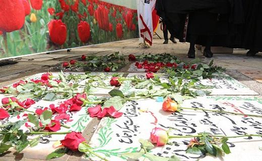گلباران مزار شهدای هفتم تیر در قم
