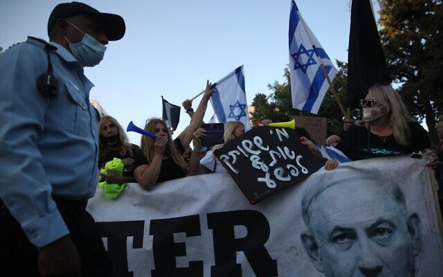 تظاهرات گسترده صهیونیستها علیه فساد بنیامین نتانیاهو 01