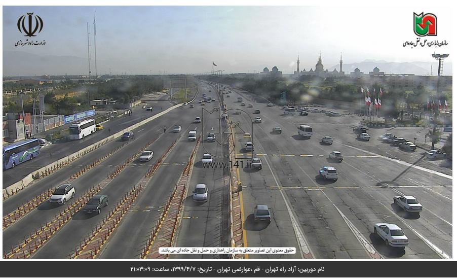 افزایش ۱.۴ درصدی تردد در جادههای برون شهری