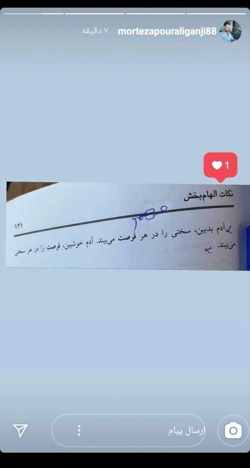 مرتضی پورعلیگنجی، بازیکن تیم ملی ایران