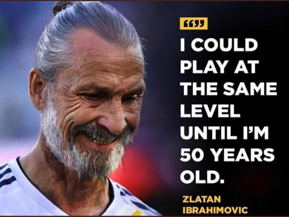 ادعای بزرگ زلاتان ابراهیموویچ/ تا ۵۰ سالگی فوتبال بازی میکنم
