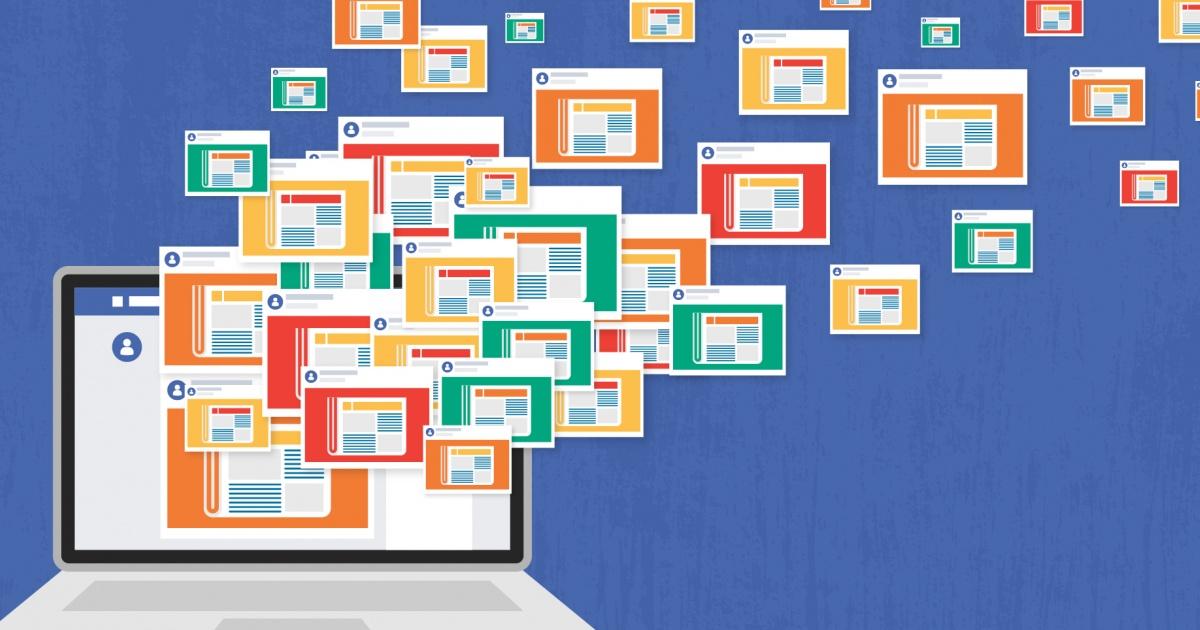 تعداد پستهای روزانه حسابهای کاربری