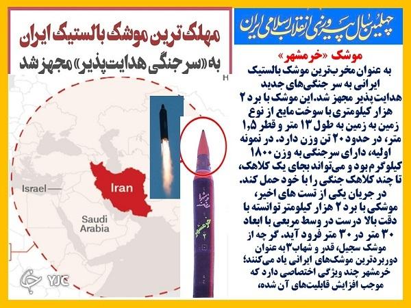 موشک خرمشهر؛ یک گام تا نابودی تل آویو و حیفا + فیلم