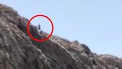 بازی با مرگ مرد جوان با پرش از ارتفاع ۳۰ متری!