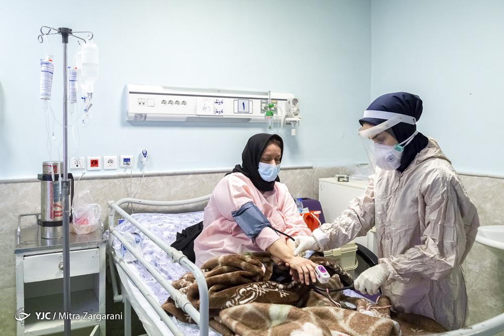 بیماران کرونایی بستری در بیمارستان ها