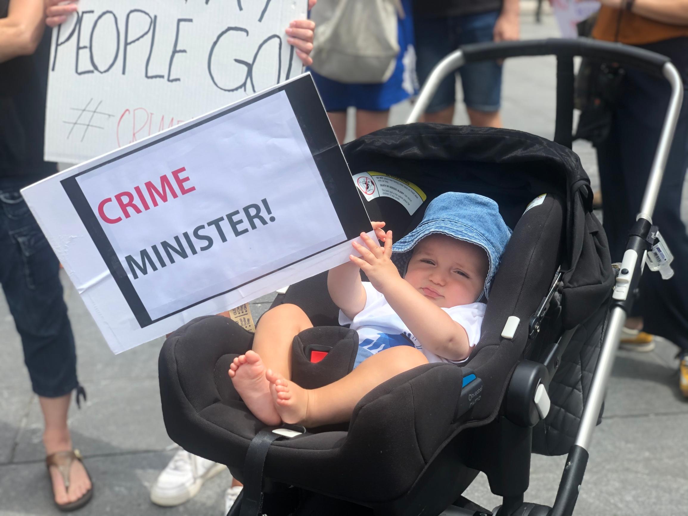 نیویورکیها هم به تظاهرات علیه نتانیاهو پیوستند /////