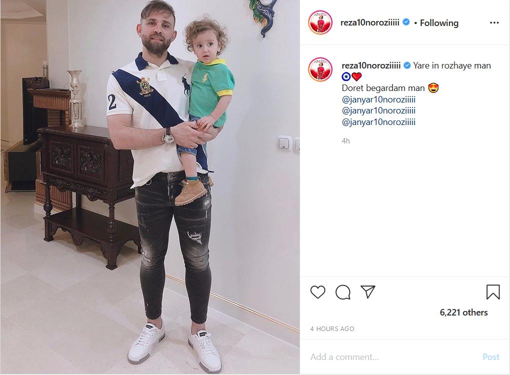 فوتبالیست معروف درباره تاثیر قضاوت دیگران در زندگی نوشت/ تصویر بازیکن پرسپولیس و پسر کوچکش