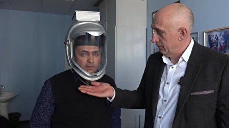 اختراع خلاقانه یک کلاه برای جلوگیری از انتقال ویروس کرونا