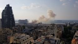وقوع چندین انفجار شدید در بیروت + تصاویر و فیلم