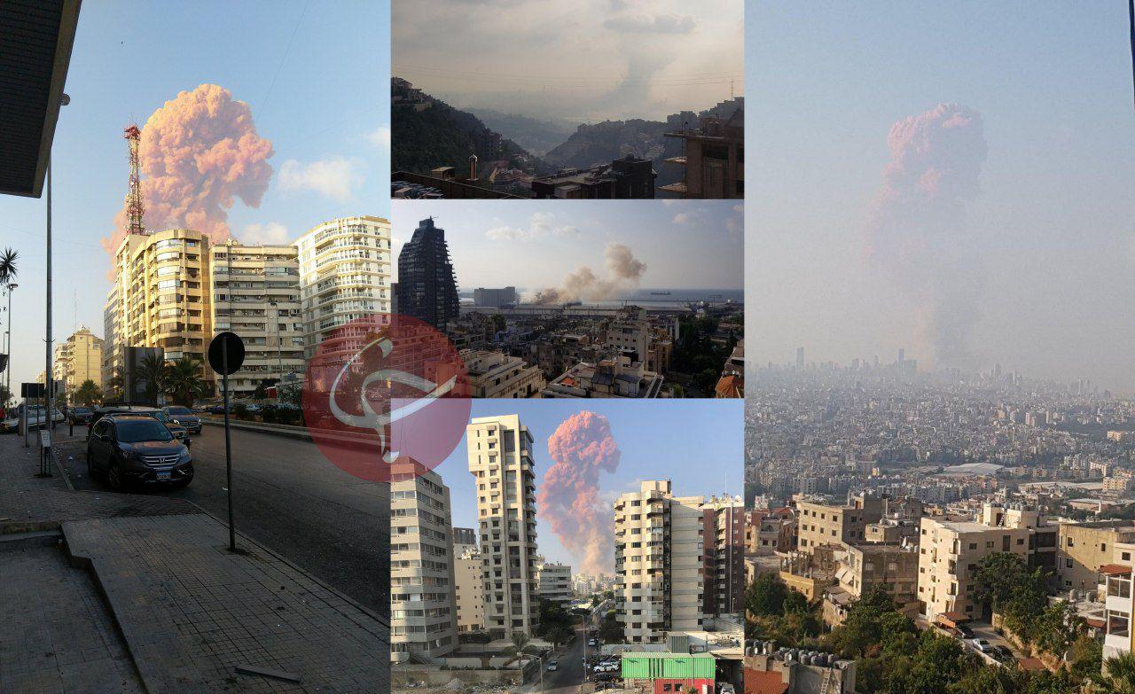 وقوع چندین انفجار شدید در بیروت 01