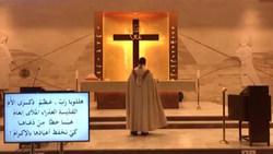 فرار یک کشیش حین نیایش در کلیسا پس از وقوع انفجار در بندر بیروت + فیلم