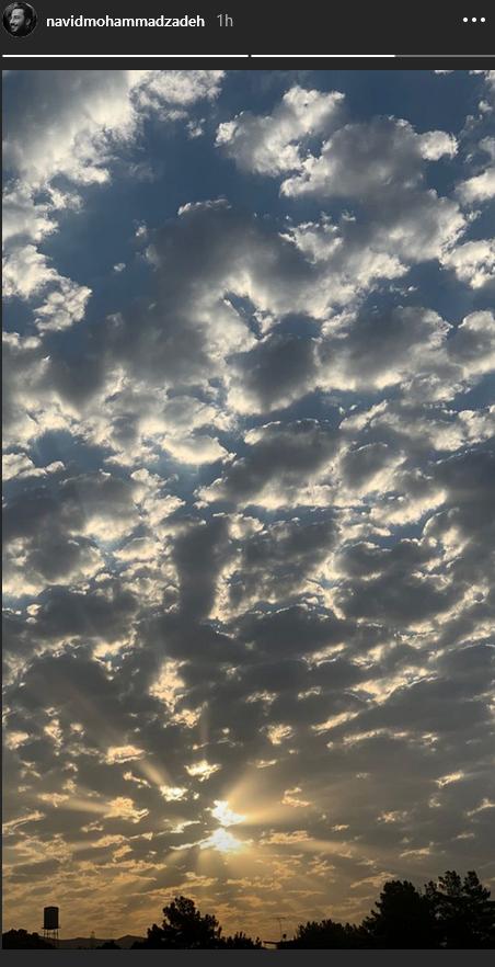تصویری زبا از آسمان شهر تهران