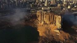 تصاویر هوایی از بندر بیروت پس از انفجار