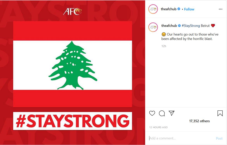 ابراز همدردی صفحه AFC با مردم بیروت/ ویدئویی از تمرین فوتبال آرات حسینی با پدرش