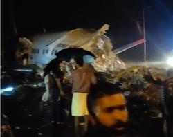 سانحه برای هواپیمای هندی با ۱۹۱ مسافر در هنگام فرود + فیلم و تصاویر