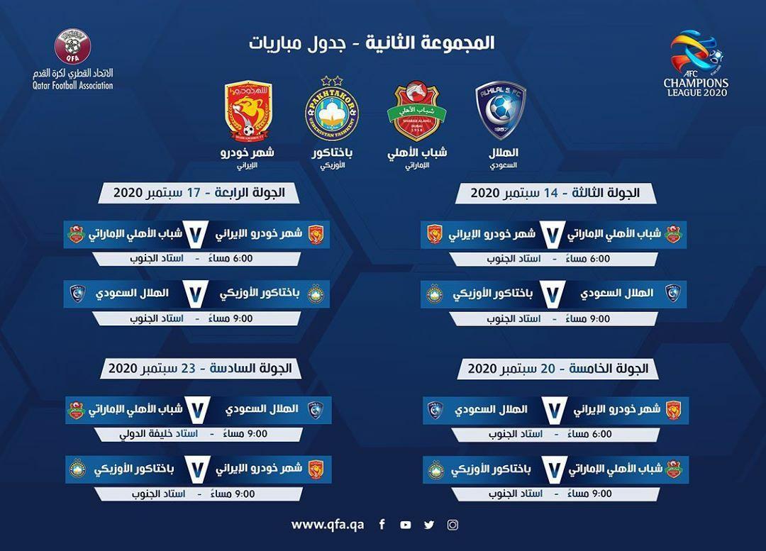 برنامه بازیهای نمایندگان ایران در لیگ قهرمانان آسیا اعلام شد