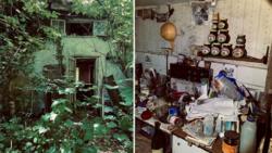 پیدا شدن خانه عجیب مخروبه در منطقه جنگلی!