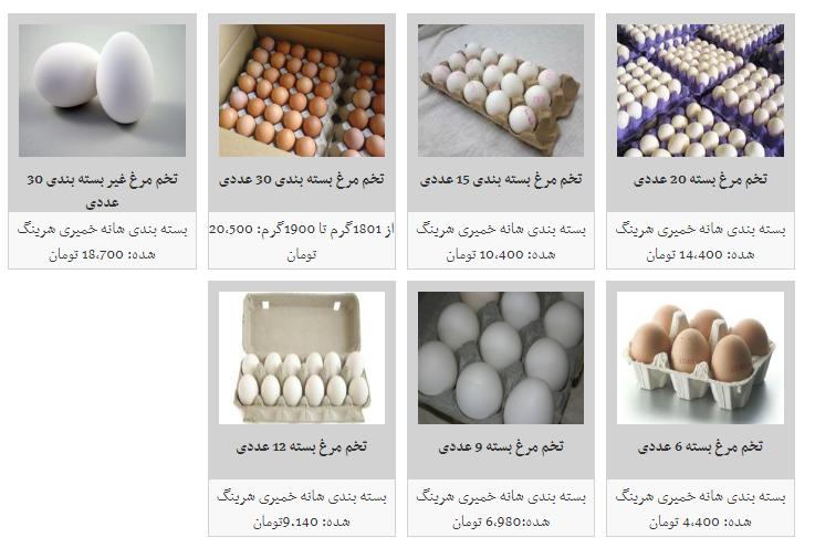نرخ مصوب تخم مرغ در میادین میوه و تره بار