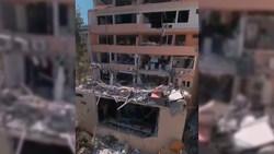 مهارت دیدنی اپراتور کوادکوپتر در فیلمبرداری از خسارات انفجارهای بندر بیروت + ویدئو