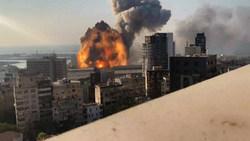 صحنه آهسته از انفجار دوم بندر بیروت + فیلم