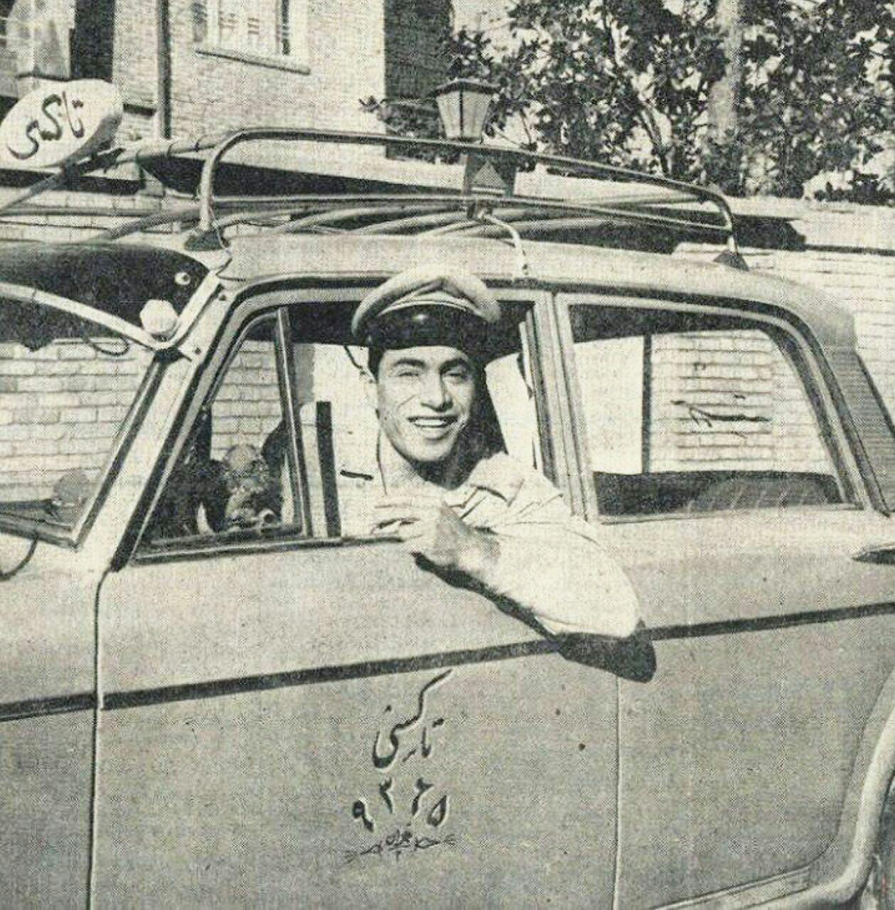 راننده تاکسی در دهه 40