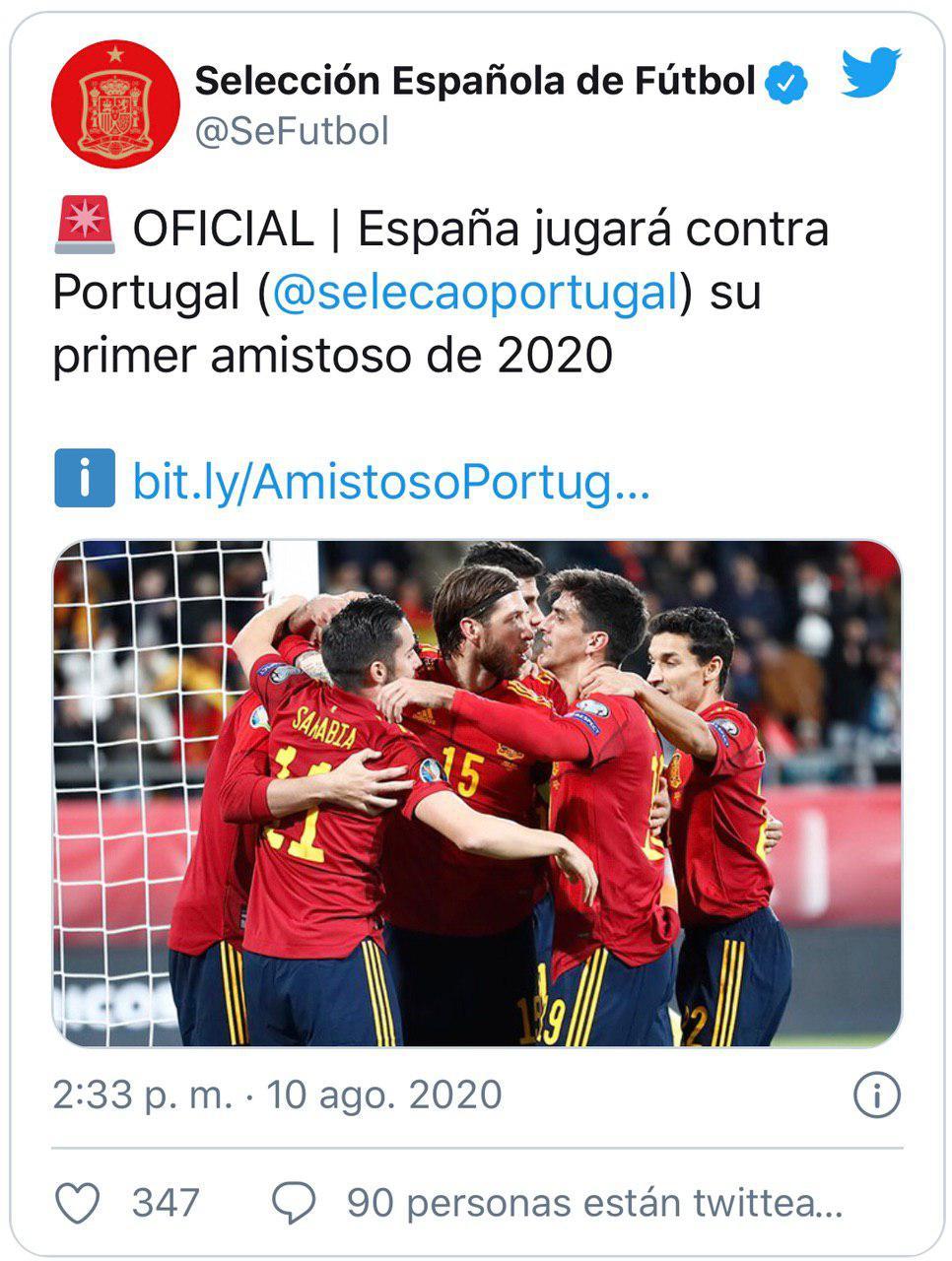 اولین بازی دوستانه تیم ملی اسپانیا مشخص شد