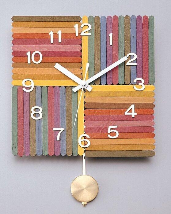 ساخت ساعتهای رنگی جذاب با چوب بستنی