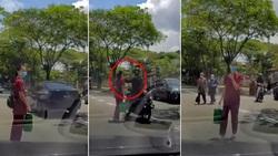لحظه سرقت گردنبند زن عابر در خیابان!