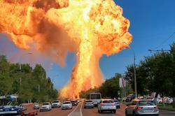 انفجار مهیب در پمپ بنزین با ۱۳ مجروح + فیلم